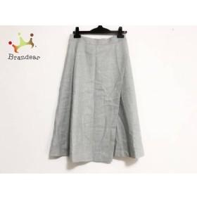 ニジュウサンク 23区 スカート サイズ38 M レディース 美品 ライトグレー   スペシャル特価 20190713