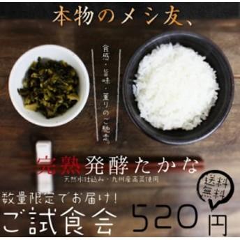 【送料無料】九州高菜220g やみつき『完熟発酵高菜』九州の天然水仕込みの乳酸発酵で完熟に仕上げた九州産の高菜。高菜の素材を楽しむ!