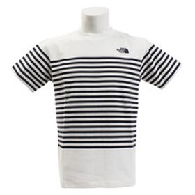 【Victoria L-Breath & mall店:アウトドア】ショートスリーブパネルボーダーTシャツ NT31950 W