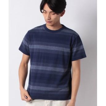 【50%OFF】 コムサイズム 半袖 クルーネック ボーダー Tシャツ ユニセックス ブルー M 【COMME CA ISM】 【セール開催中】