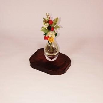 天然木の花台 飾り台 拭き漆仕上げ【一点もの】