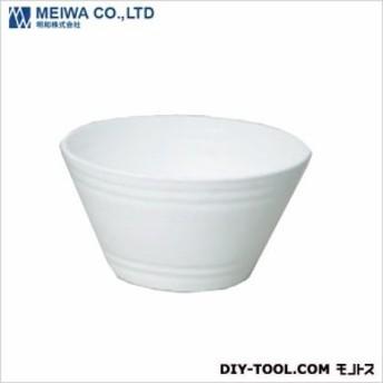 明和 セラアート平鉢植木鉢(プラスチック樹脂製プランター) 白 21号