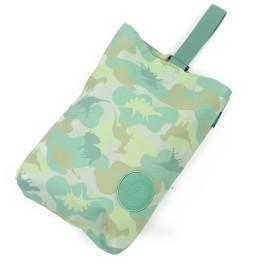 【オンワード】 Mother garden(マザーガーデン) マザーガーデン きょうりゅう日記 シューズバッグ 迷彩柄 上履き入れ 青緑 0 キッズ