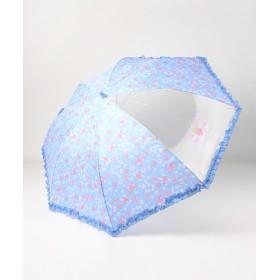 【オンワード】 Mother garden(マザーガーデン) MG 傘 かさ パールリボン柄 長さ55cm 水色 傘55cm キッズ