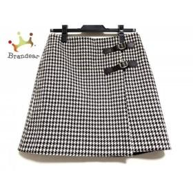 ニジュウサンク 23区 巻きスカート サイズ38 M レディース アイボリー×ベージュ×黒     スペシャル特価 20190731