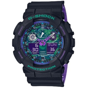 G-SHOCK(Gショック) BLACK & 90s Color GA-100BL-1AJF