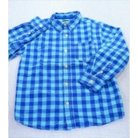 オシュコシュビゴッシュ OSHKOSH 長袖シャツ 130cm 青系 チェック トップス キッズ 男の子 子供服 通販 買い取り