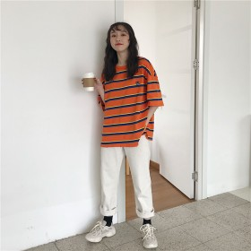 Tシャツ - G & L Style レディース 半袖 トップス カットソー シンプル カジュアル ロゴプリント 半袖Tシャツ 6016