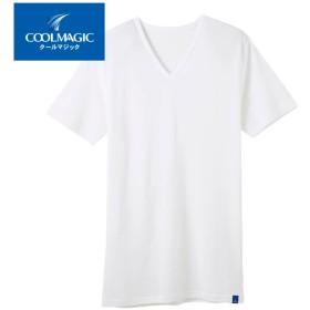 GUNZE グンゼ COOLMAGIC(クールマジック) VネックTシャツ(メンズ)【SALE】 ホワイト L