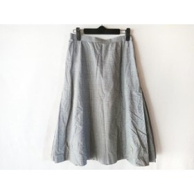 【中古】 ヨークランド YORKLAND スカート サイズ11AR M レディース 黒 白 チェック柄