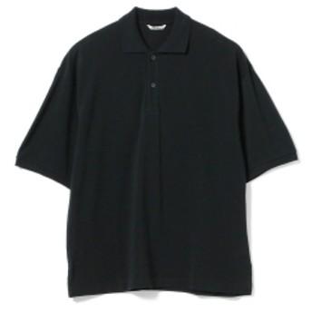 AURALEE / SUPER SOFT PIQUE BIG POLO メンズ ポロシャツ BLACK 4