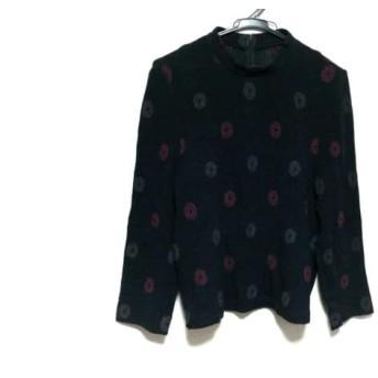【中古】 レリアン Leilian 長袖セーター サイズ13+ S レディース 美品 ダークグレー グレー ピンク