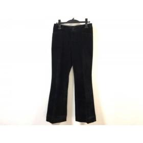 【中古】 ニジュウサンク 23区 パンツ サイズ38 M レディース 黒 ベロア