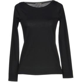 《期間限定セール開催中!》SHE WISE レディース T シャツ ブラック 46 コットン 100%