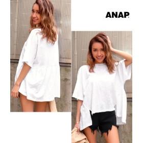 【セール開催中】ANAP(アナップ)BACKギャザースラブゆるTシャツ