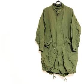 【中古】 グリーンレーベルリラクシング コート サイズ38 M レディース カーキ 春・秋物