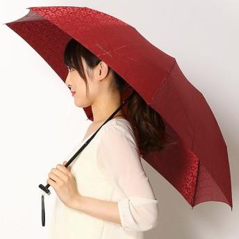 [マルイ] 雨傘(3段/折畳み/ミニ)【手開き/軽量/グラス骨】ロゴジャカード(レディース)/ミラ・ショーン(雑貨)(mila schon)