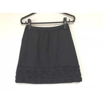 【中古】 ランバンオンブルー LANVIN en Bleu スカート サイズ38 M レディース 美品 黒 フリル