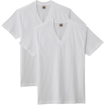 GUNZE グンゼ G.T.HAWKINS(GTホーキンス) VネックTシャツ(2枚組)(V首)(メンズ) グレーモク L