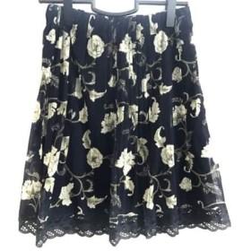 【中古】 ヴィヴィアンタム VIVIENNE TAM スカート サイズ0 XS レディース ネイビー ライトグリーン