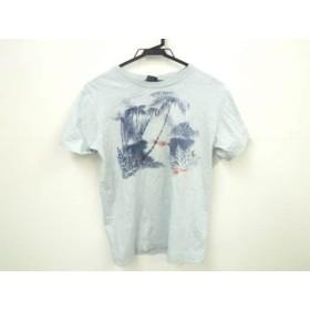 【中古】 ディーゼル DIESEL 半袖Tシャツ サイズs S メンズ ライトブルー ネイビー レッド