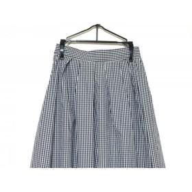 【中古】 ティアクラッセ Tiaclasse ロングスカート サイズM レディース 黒 白 チェック柄