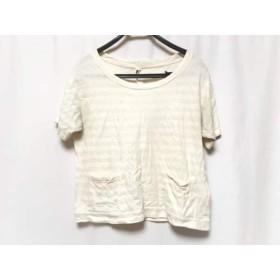 【中古】 マーガレットハウエル MHL. 半袖Tシャツ サイズ2 M レディース アイボリー ボーダー