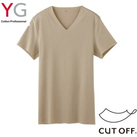 GUNZE グンゼ YG(ワイジー) VネックTシャツ(V首)(メンズ)【まとめ買い対象】 ブラックモク M