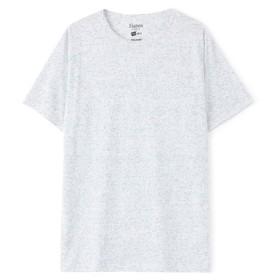 HANES クルーネックTシャツ メンズ ブルー*ホワイト