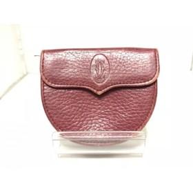 【中古】 カルティエ Cartier コインケース - ピンク レザー