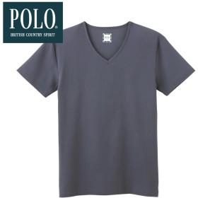 GUNZE グンゼ POLO BCS VネックTシャツ(V首)(メンズ) グレー M