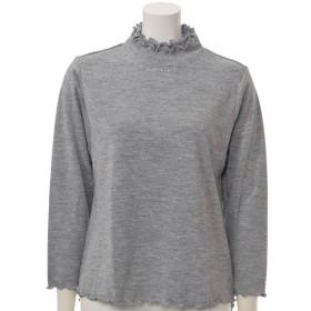 婦人 ラインストーン使いメローハイネックTシャツ