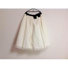 【中古】 エムズグレイシー M'S GRACY スカート レディース 美品 白 黒 リボン