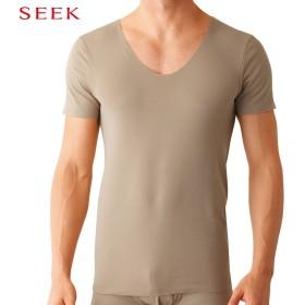 GUNZE グンゼ SEEK(シーク) UネックTシャツ(U首)(メンズ) ホワイト L