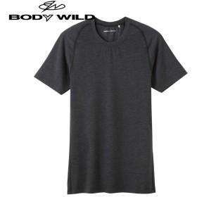 GUNZE グンゼ BODY WILD(ボディワイルド) クルーネックTシャツ(メンズ) ネービーモク M