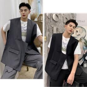 ベスト・ジレ - BIG BANG FELLAS 違いを生む ビッグシルエット ベスト チョッキ ゆったり メンズ メンズファッション ストリート系 カジュアル モード系 韓国ファッション 韓流 K-POP 大きいサイズ ジレ
