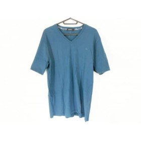 【中古】 バーバリーブラックレーベル 半袖Tシャツ サイズ4 XL メンズ ネイビー Vネック