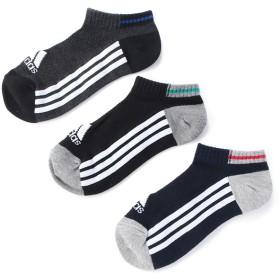adidas(アディダス) アシゾコ3ラインスニーカー3足組 アソート 男の子 靴下 123E19E3