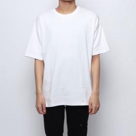 スタイルブロック STYLEBLOCK サイドZIP綿ポンチビッグTシャツ (オフホワイト)