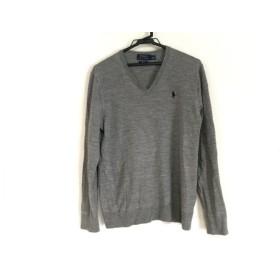 【中古】 ポロラルフローレン POLObyRalphLauren 長袖セーター サイズS メンズ グレー