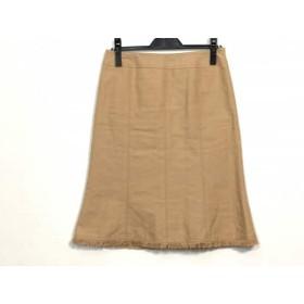 【中古】 ニジュウサンク 23区 スカート サイズ40 M レディース ベージュ ダメージ加工