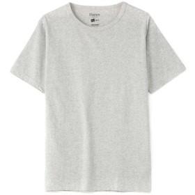 HANES クルーネックTシャツ メンズ グレー
