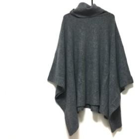 【中古】 ボッシュ BOSCH セーター サイズ38 M レディース 美品 グレー タートルネック/ポンチョ風