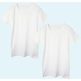GUNZE グンゼ キッズ 半袖丸首(2枚組)(子供100-160cm)(男の子) ホワイト 150