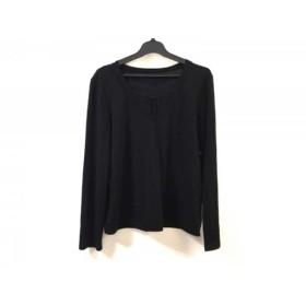 【中古】 レリアン Leilian 長袖Tシャツ サイズ9 M レディース 黒