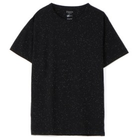 HANES クルーネックTシャツ メンズ ホワイト*ブラック