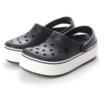 クロックス crocs 205434 クロックバンド プラットフォーム (ブラック/ホワイト)