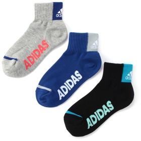 adidas(アディダス) アシゾコカカトロゴショート3足組 アソート 男の子 靴下 123E19E5