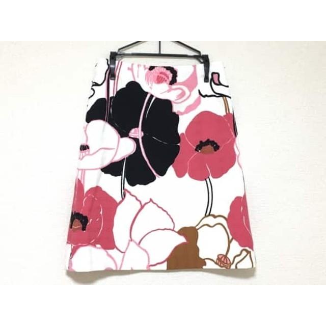 【中古】 ミリー MILLY スカート サイズ0 XS レディース 美品 白 ピンク 黒