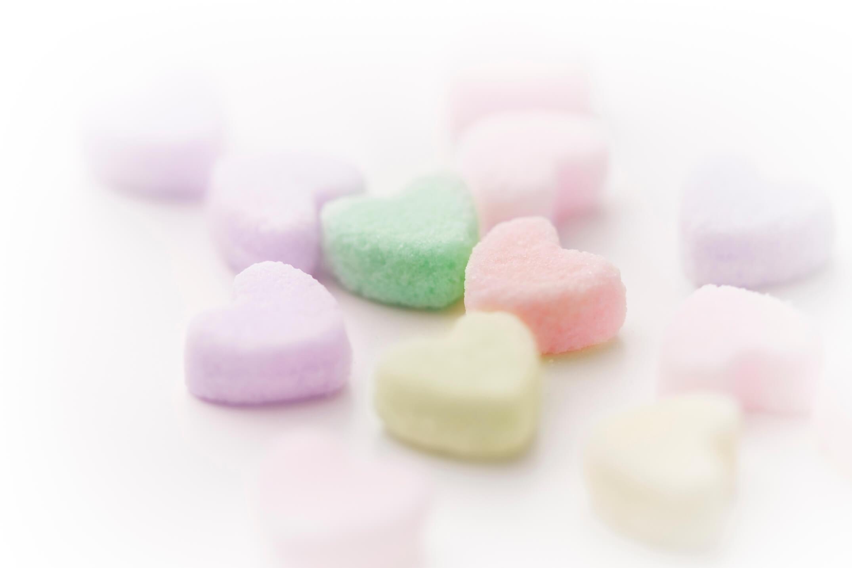 ハート形の砂糖